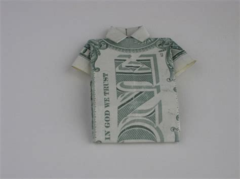 T Shirt Dollar Origami - origami folding how to make a money origami