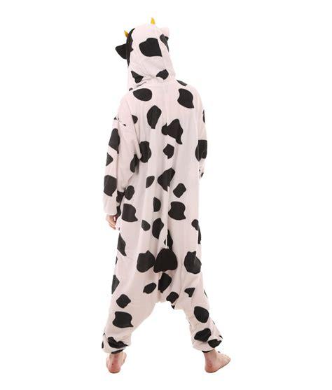 Piyama Dewasa Cow Skin Black Pajamas cow animal onesie funzee