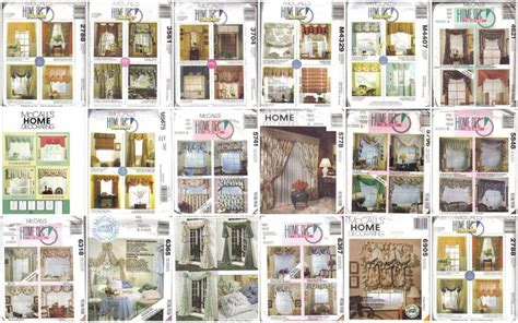 Home Decor Patterns by Mccall S Sewing Pattern Home D 233 Cor Window Treatment