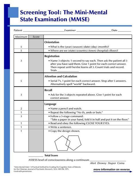 mental status examination sle report best 25 mini mental state ideas on