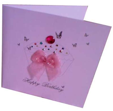 Handmade Cards Using Ribbon - buy handmade greeting cards pink colour ribbon card from