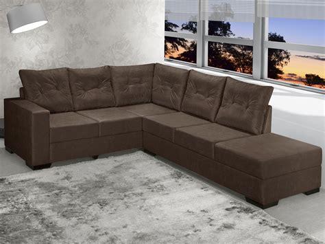 capa de sofa de canto casas bahia sof 225 de canto chaise 2 e 3 lugares suede sevilha banqueta