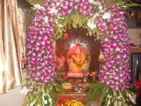 Flower Decoration Artificial Flowers Decoration For Ganpati Images