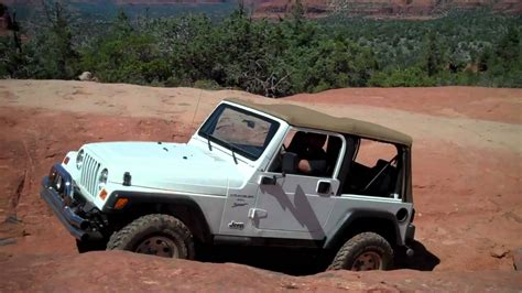 Broken Arrow Jeep Tj Jeep Running The At Broken Arrow Trail Sedona