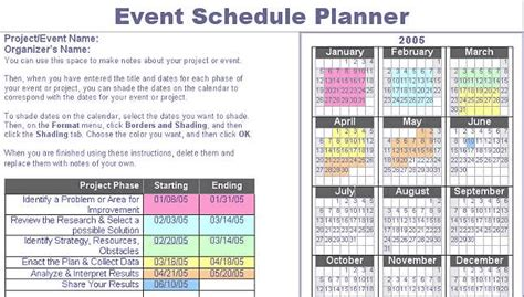 event schedule template word research for teachers planning
