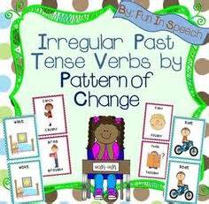 irregular past tense verb cards organized by pattern of change irregular verbs memory game present tense irregular
