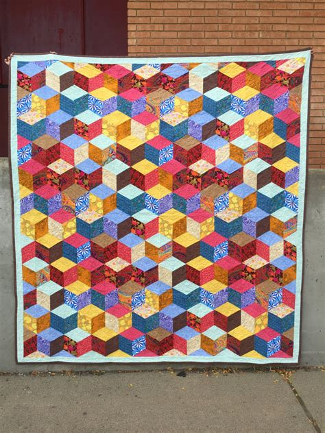 King Quilt by King Size Quilt Tumbling Block Quilt
