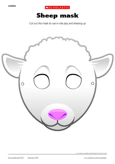 new year sheep mask template 2015