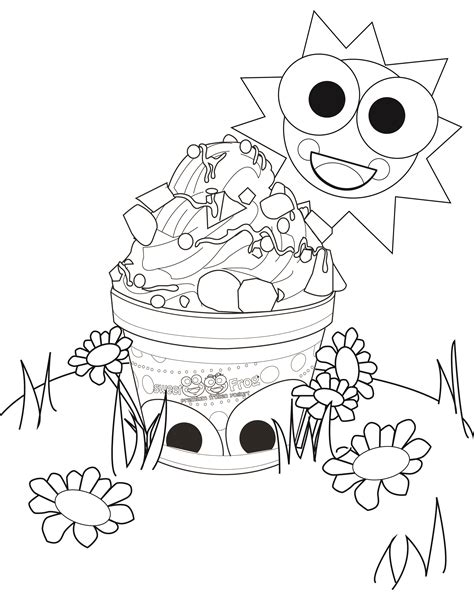 sweet frog coloring page sweetfrog premium frozen yogurt