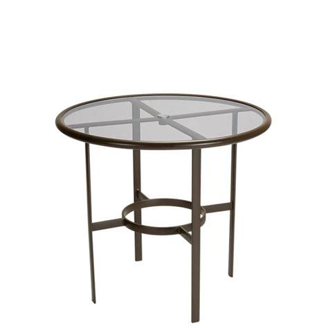 Umbrella Tables by Smoked Glass 42 Quot Bar Umbrella Table Tropitone