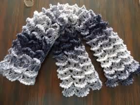 picot shell stitch scarf crochet tutorial viyoutube