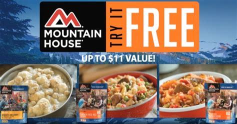 mountain house food rebate free mountain house freeze dried meal hey it s