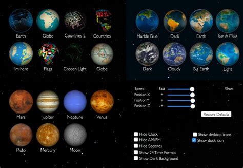 earth live wallpaper for mac 自転する地球や月 火星などを壁紙に出来るmac用アプリ earth live wallpaper が無料セール中