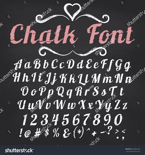 design font blackboard vector alphabet hand drawn letters chalk stock vector