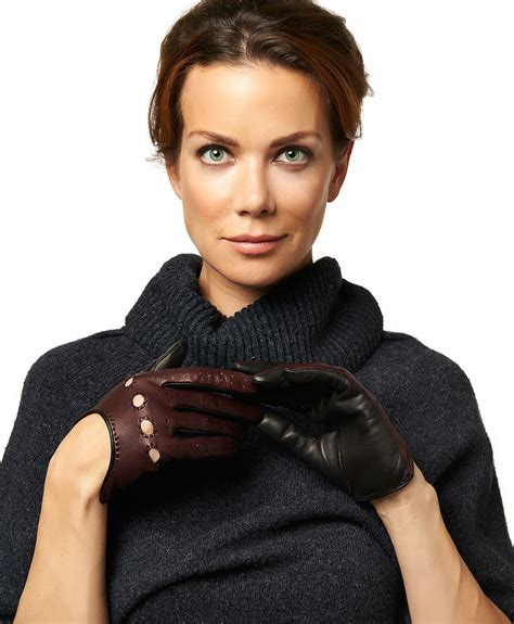 women s women s two tone italian leather driving gloves by