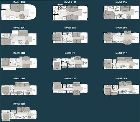 rv floor plans class c four winds class c motorhome floorplans