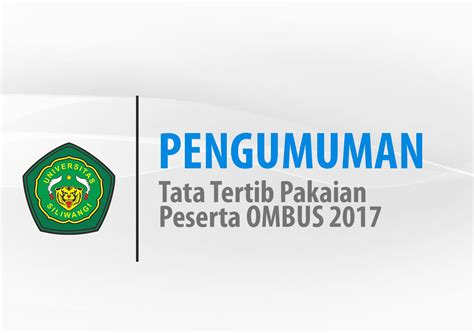 Celana Panjang Standar Hb Ac tata tertib pakaian peserta ombus 2017 website resmi
