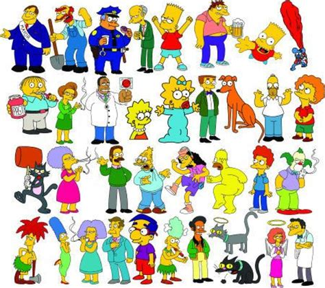 simpsons name simpsons characters names the simpsons search and simpsons characters