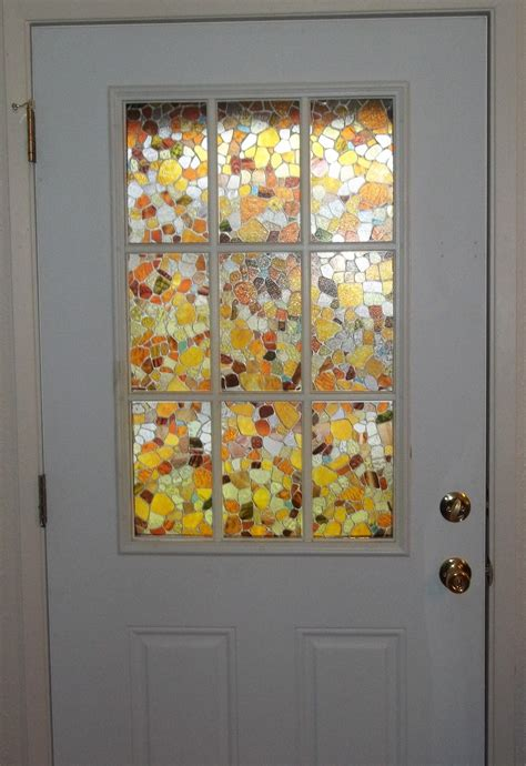 stained glass panels on my front door light effects