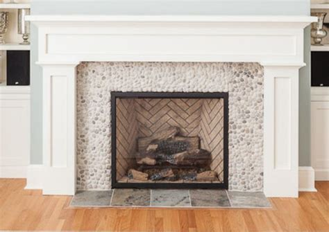 Pebble Tile Fireplace pebble tile surround for fireplace and mantle style new aledo model mantles