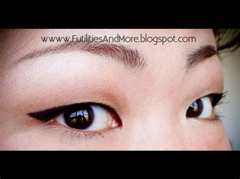 winged eyeliner tutorial asian winged eyeliner for asian monolid and red lips makeup