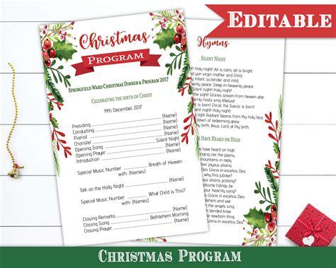 christmas program template templates program template theoddvillepress