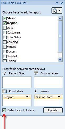defer layout update excel 2010 khai th 225 c cơ sở dữ liệu excel 2010 phần 2