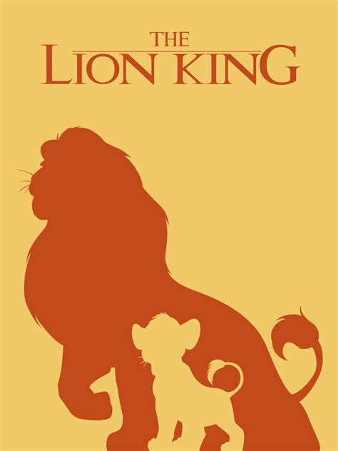 hungry lion film productions les affiches des films disney en version minimaliste