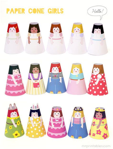 Paper Doll Craft - diy paper doll crafts mr printables