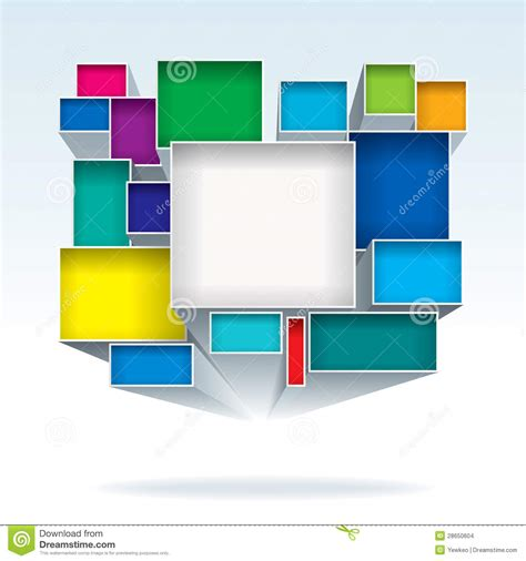 abstract pattern box abstract boxes stock vector illustration of shapes