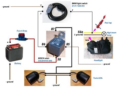 Schaltung Zusatzscheinwerfer Motorrad by Schalter Kabelbelegung Zusatzscheinwerfer