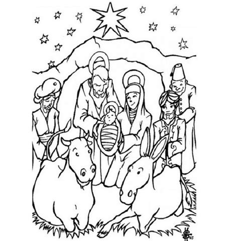 printable coloring pages jesus birth jesus birth coloring page coloring home