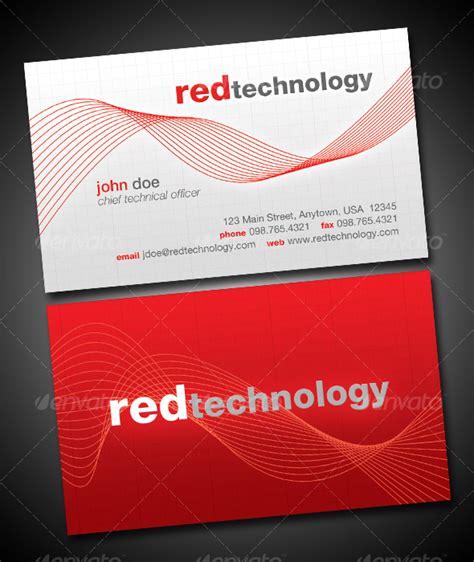 technology business card templates technology business card graphicriver