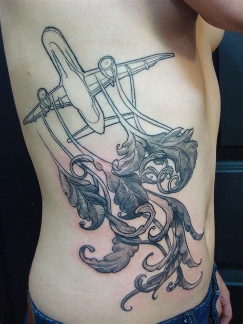 cross hatching tattoo graphic airplane with cross hatched ornatment tattoos
