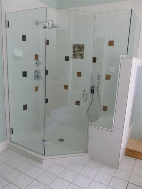 Neo Angle Shower Door Seal View Our Work Virginia Shower Door Llc Richmond Va 804 784 7244