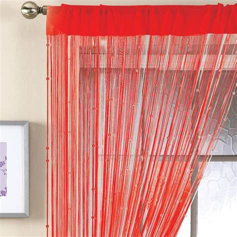 beaded string curtains red beaded string curtain dunelm mill home