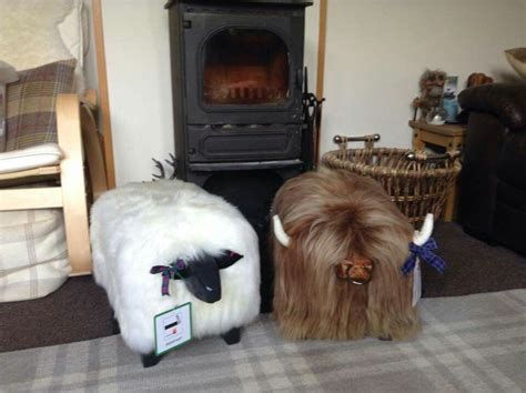 highland cow bean bag highland cow footstool home