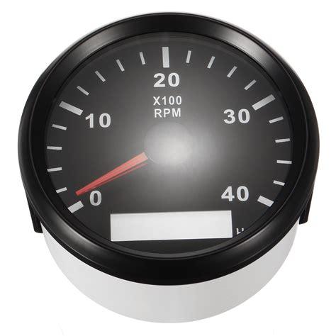 lcd boat gauges 12 24v marine tachometer boat tacho meter gauge lcd