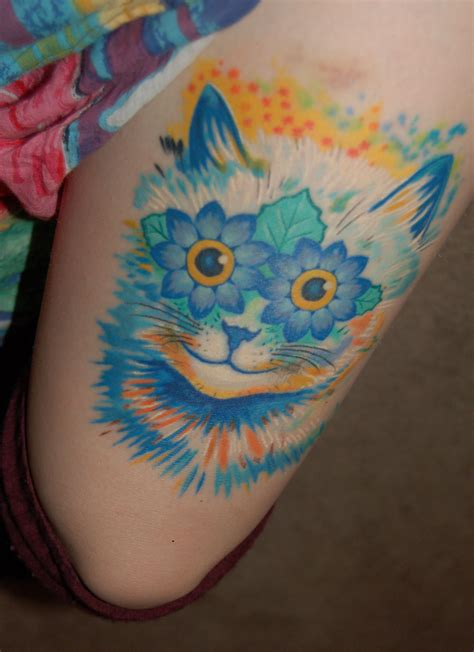 read street tattoo cattoo also my louis wain cat by j at read