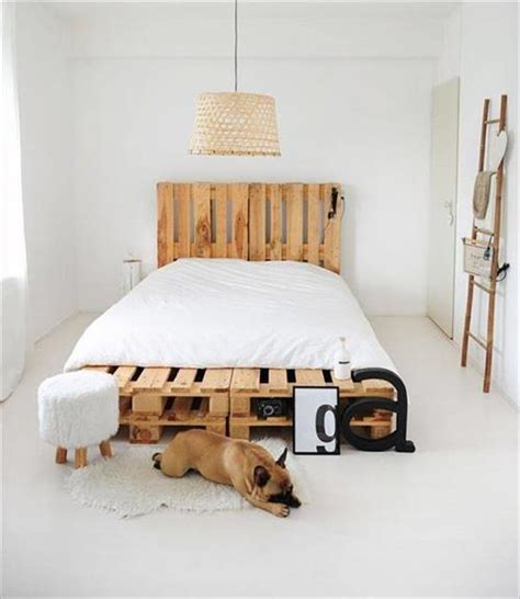 diy bed ideas diy pallet bed with headboard ideas pallets designs