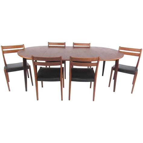 mid century modern dining table set mid century modern scandinavian teak dining set with