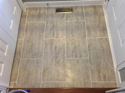 traffic master ceramica vinyl groutable tile  natural concrete home depot   home