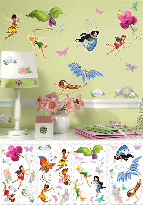 tinkerbell wall sticker tinker bell new fairies glitter wall stickers
