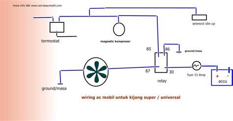 wiring kelistrikan ac mobil toyota kijang