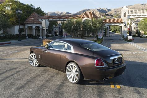 Smoky Quartz Rolls Royce Wraith On Forgiato Rims