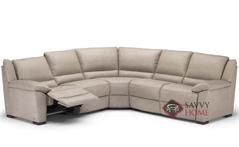 natuzzi reclining sectional sofa genoa a319 leather true sectional by natuzzi is fully
