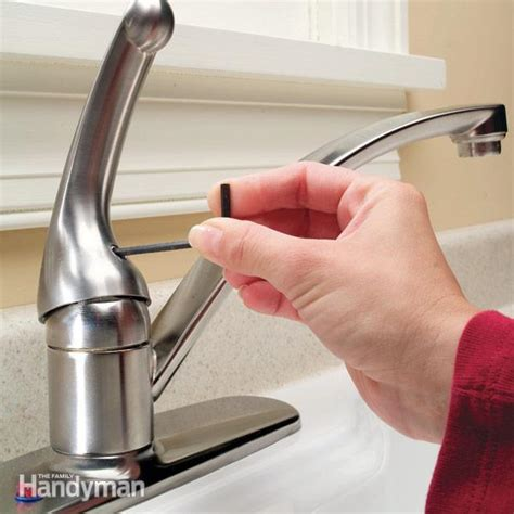 repairing a kitchen faucet how to repair a single handle kitchen faucet the family handyman