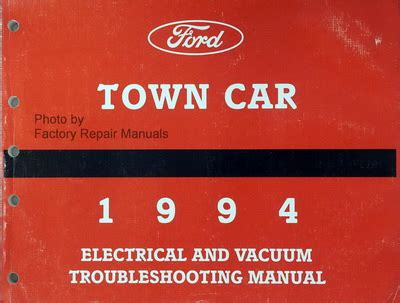 service manual how does cars work 1994 lincoln continental seat position control how does 1994 lincoln town car electrical vacuum and troubleshooting manual original evtm factory