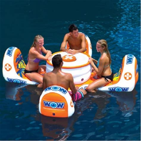 the aquatic bar an inflatable floating circular bar with