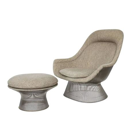 Platner Chair by Warren Platner Lounge Chair And Ottoman At 1stdibs
